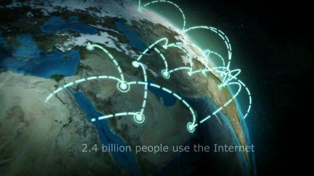 Graphic showing internet usage