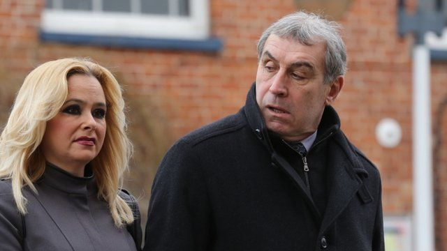 Stephanie Hayward and Peter Shilton