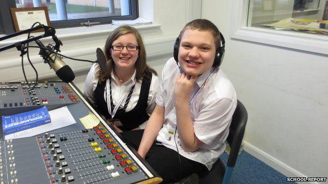 Radio Star Rory in the Studio at Duncanrig School