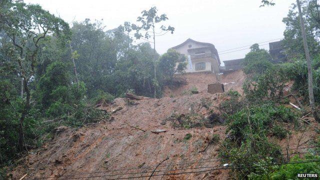 Landslide in Petropolis