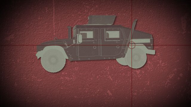 Humvee illustrator with crosshairs