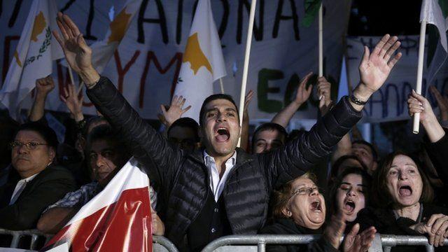 Cypriot demonstrators
