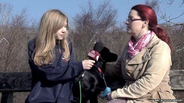 School Reporter and dog owner