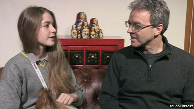 Verity and her father