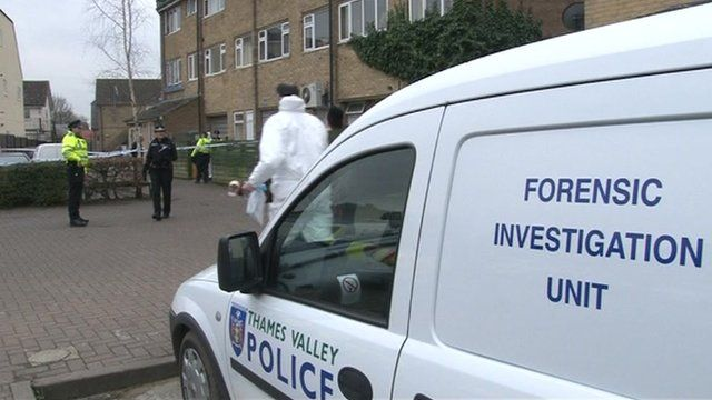 Police forensic investigations were carried out at the flat throughout the day