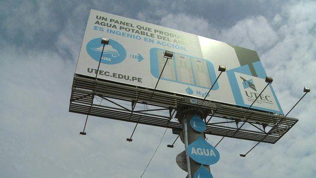 The billboard in Peru