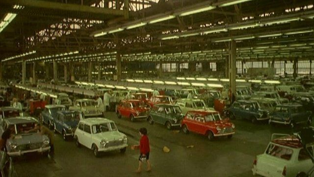 Minis at Plant Oxford in Cowley in the 1960s