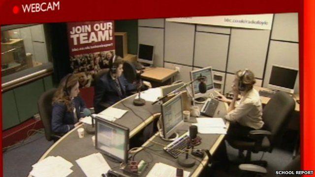 School Report radio in Derry