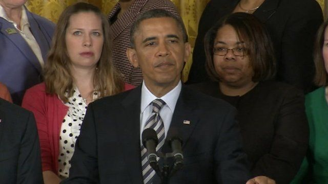 Obama speaks in front of mothers who have been victims of gun violence