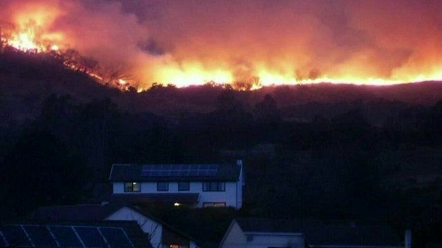 Wildfires in Scotland