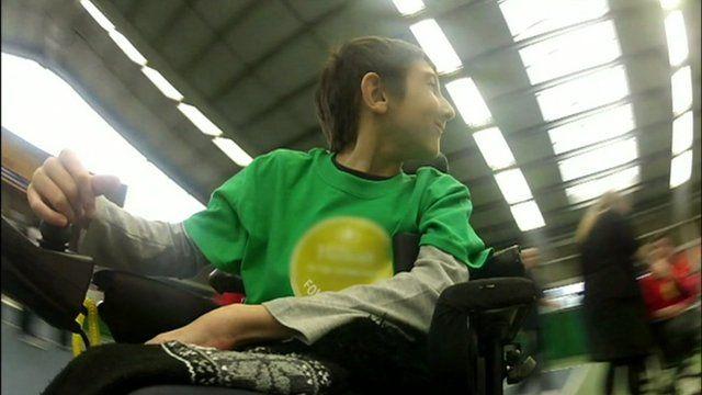 An athlete at the Panathlon Challenge