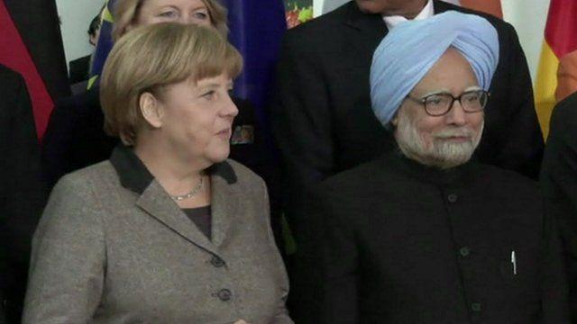 German and Indian leaders