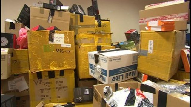 Seized counterfeit goods
