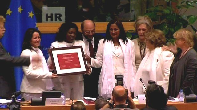 Ladies in White collect the Sakharov Prize for Freedom of Thought