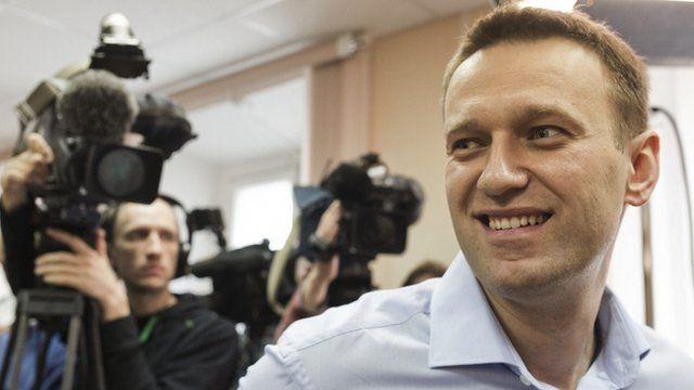 Alexei Navalny in court