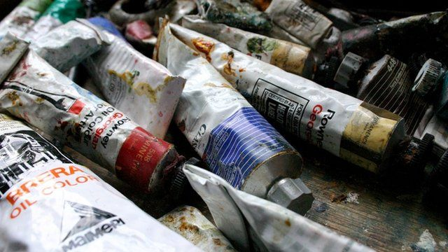 Tubes of oil paint