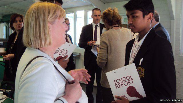 MP Pat Glass talks to School Reporter Naim