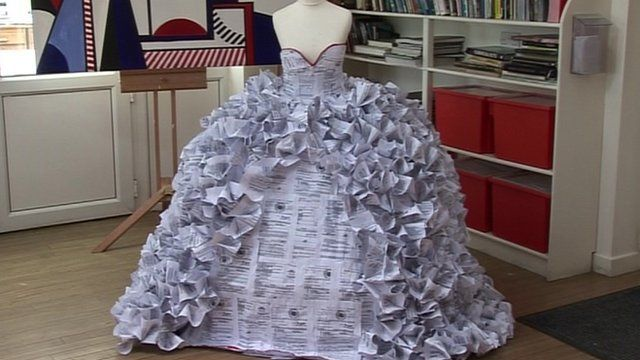 Wedding Dress Made Of Divorce Papers For Gcse Project