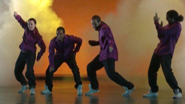 Dancers on stage at Sadler's Wells