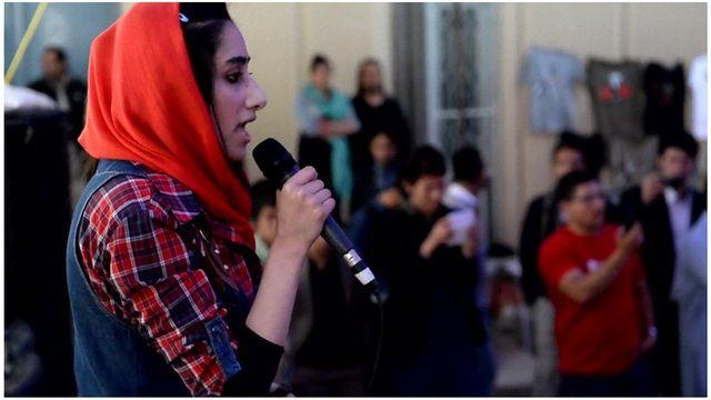Young rapper from Kabul, Afghanistan.