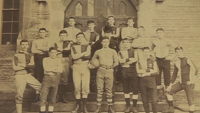 Llandovery College archive photo of rugby team