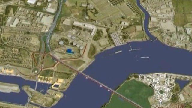 Proposed Thames bridge