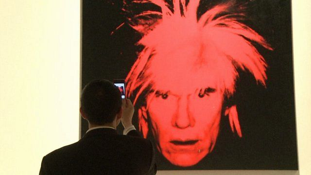Andy Warhol self-portrait.