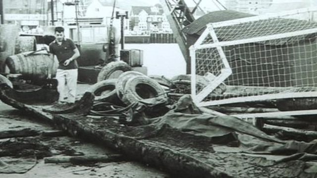 The Iron Age log boat was discovered off Brownsea Island in 1964