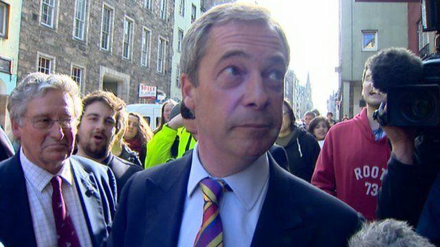 Nigel Farage in Edinburgh