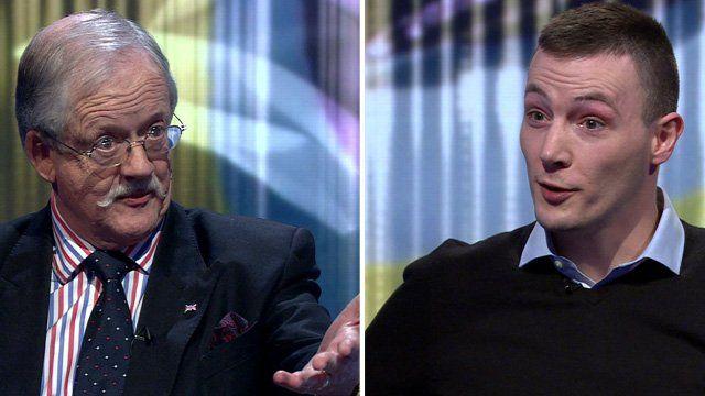 UKIP MEP Roger Helmer and James Moohan