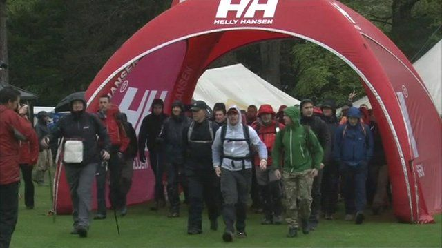 People taking part in the Cumbrian Challenge