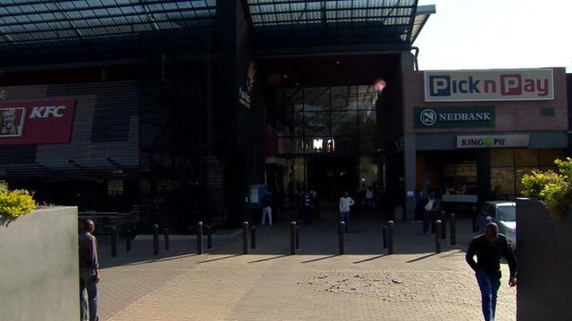 An entrance to the Pan Africa shopping centre