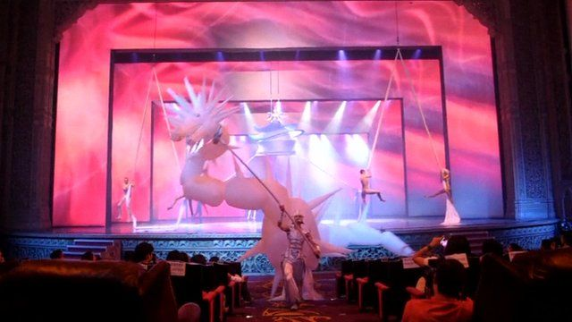 The French circus performance group Mana performing in India