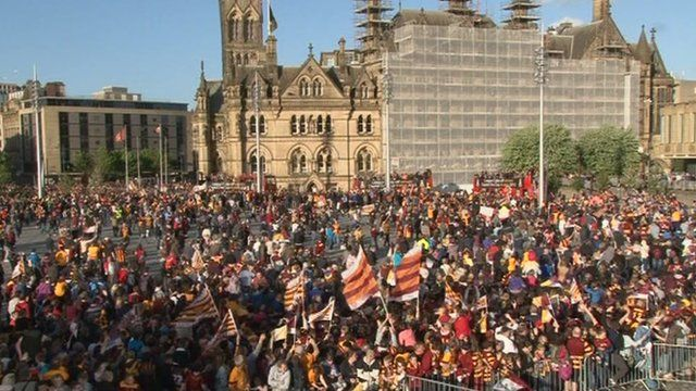 Crowd in Bradford