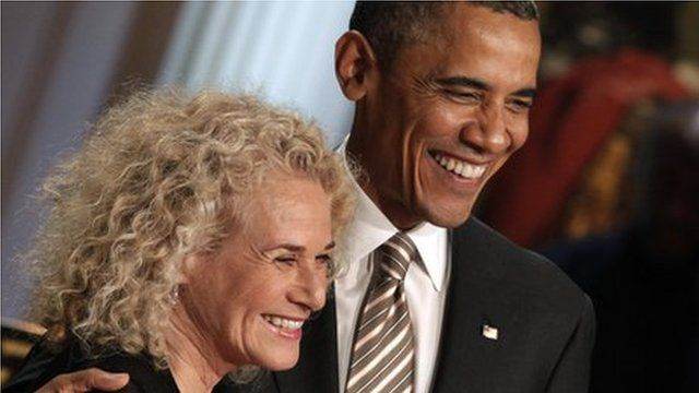 Carole King and Barak Obama