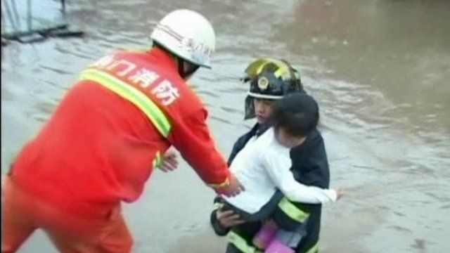 Child rescued by emergency services