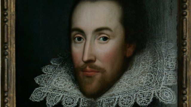 A portrait of William Shakespeare