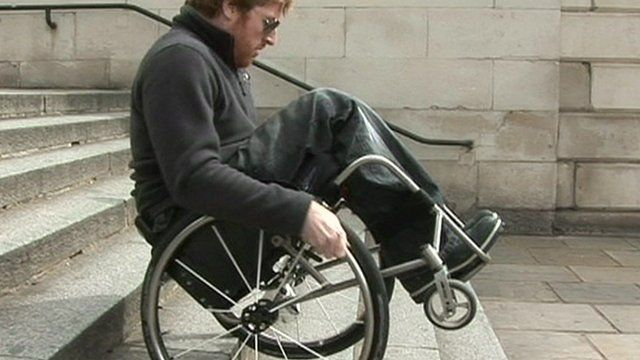 Pete Donnelly showing off his wheelchair skills