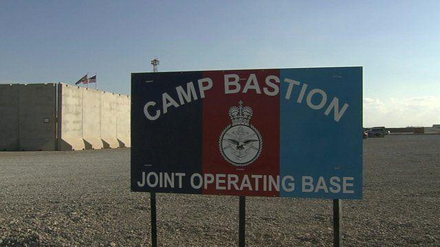 Camp Bastion sign