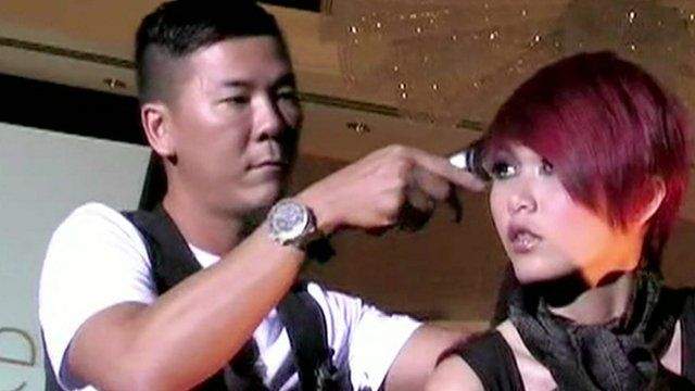 Hairdresser and model in Singapore