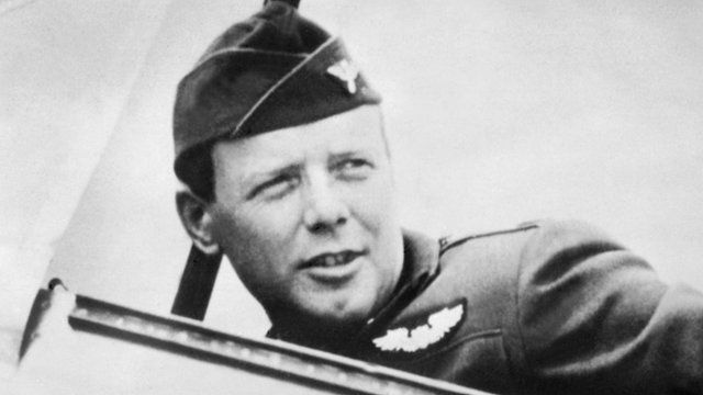 Charles Lindbergh in 1940 wearing his US Air Force uniform
