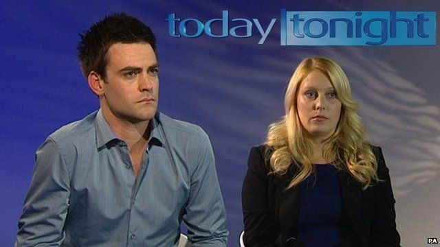 Michael Christian and co-host Mel Greig