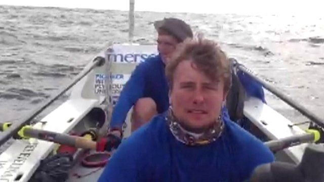 Josh Taylor and Alan Morgan's boat is in the lead