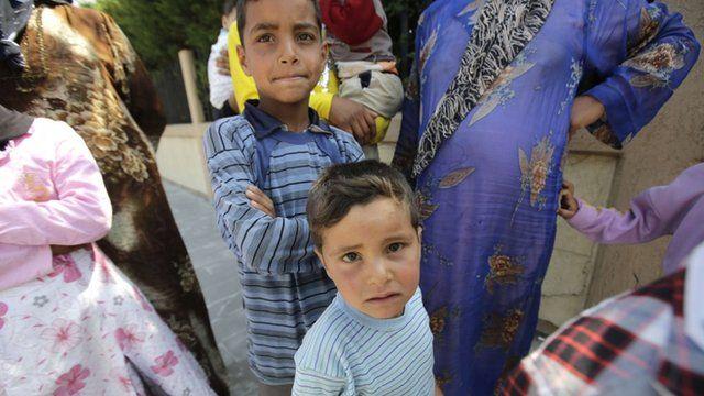 Refugee children in Tripoli, Lebanon