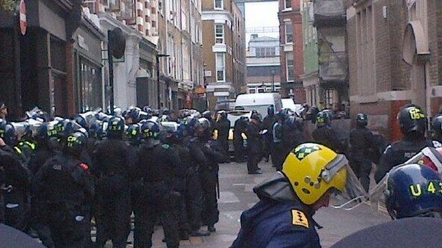 Police gathered near Beak Street