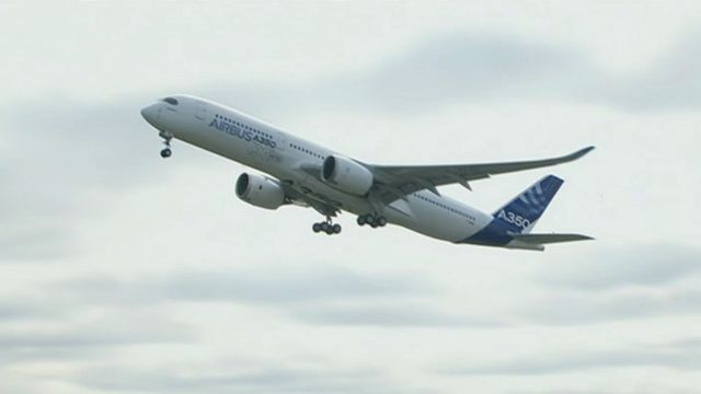 Airbus A350 takes off