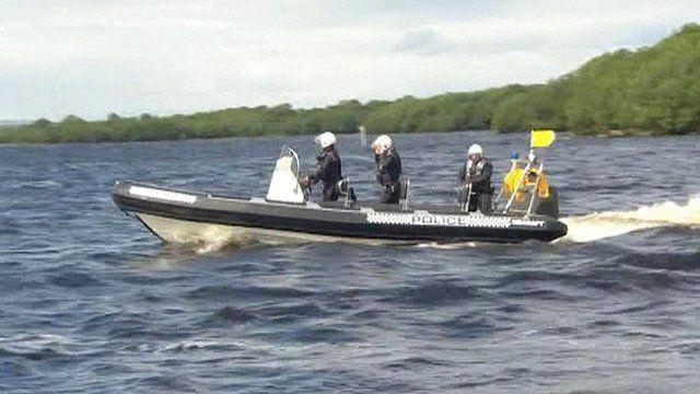 Police on Lough Erne