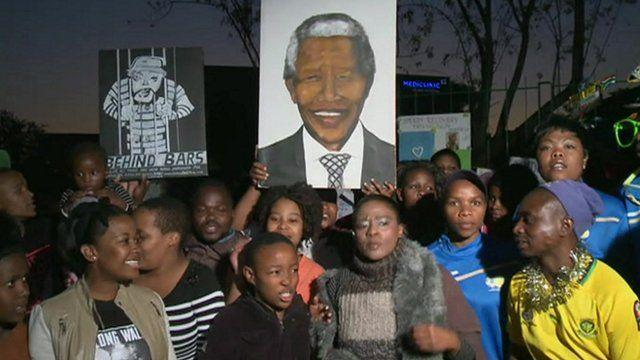 Nelson Mandela well-wishers