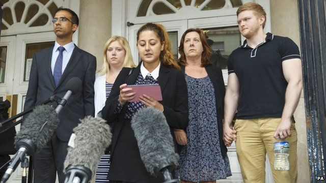 Solicitor Harriette Ronson and Jeremy Forrest's family