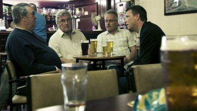 Mark Easton talks to locals in Ebbw Vale